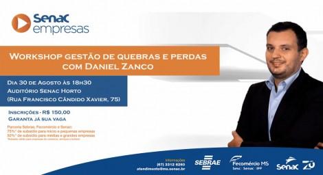 Workshop sobre perdas com Daniel Zanco em Campo Grande