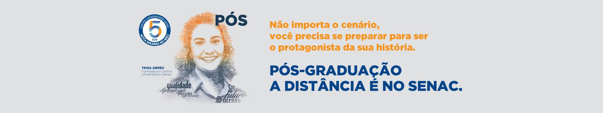 Cursos de pós-graduação a distância Senac