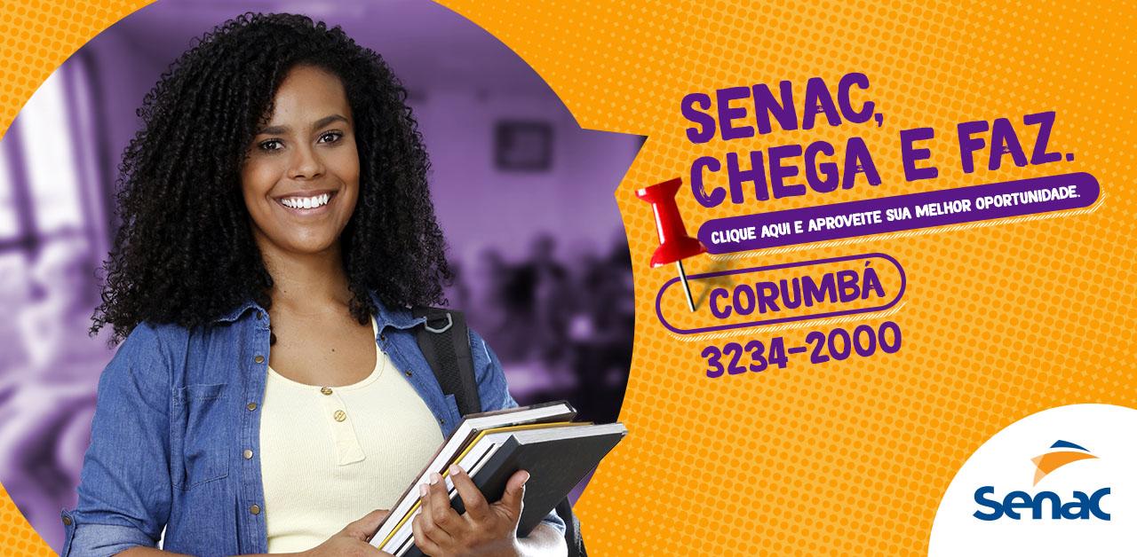 Cursos em diversas áreas estão com inscrições abertas no Senac Corumbá